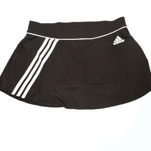 ADIDAS Black Striped Mini Skirt Skort Tennis Sport